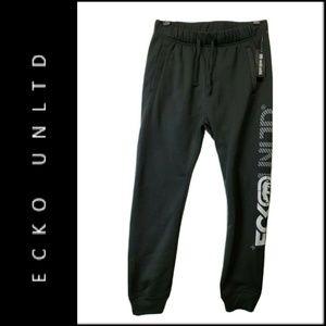 Ecko Unltd Jogger Pants Men/'s Starting Lineup Fleece Sweatpants Black Urban Q472